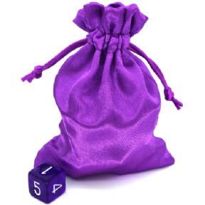 Purple Small Satin Dice Bag
